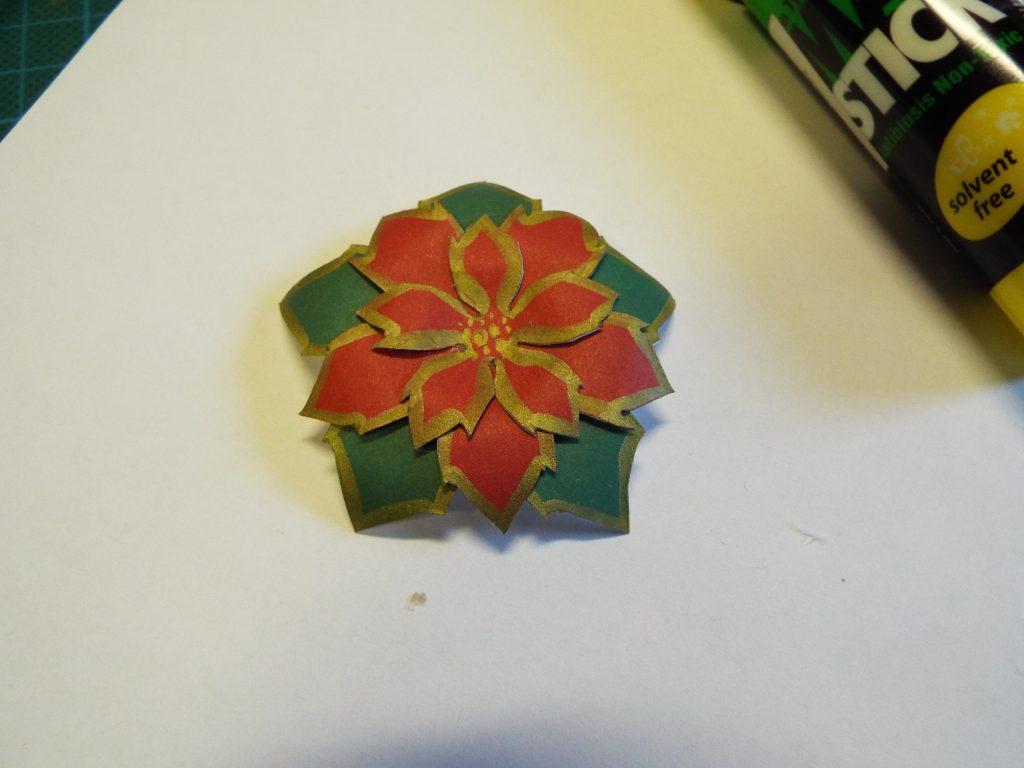 Small Poinsettia Flower Card Yoanashour